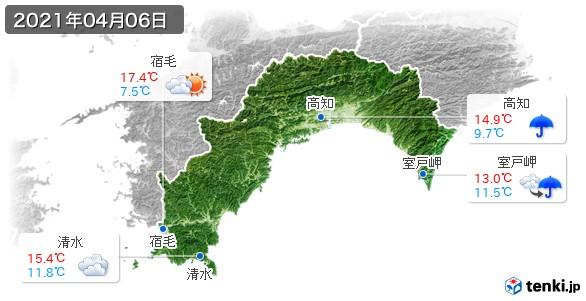 高知県(2021年04月06日の天気