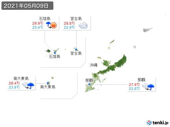 沖縄地方(2021年05月09日の天気