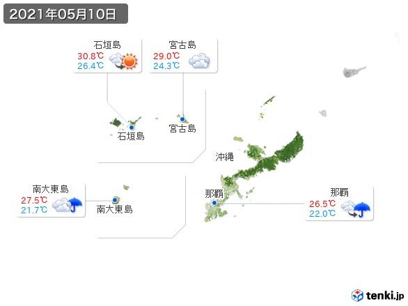 沖縄地方(2021年05月10日の天気