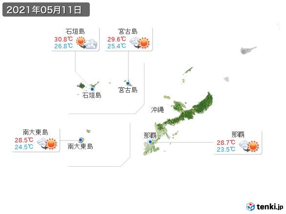 沖縄地方(2021年05月11日の天気