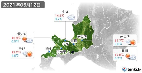 道央(2021年05月12日の天気
