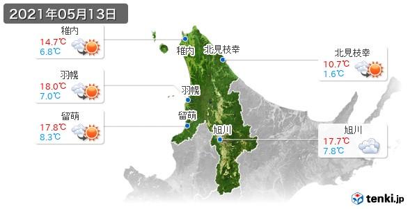 道北(2021年05月13日の天気