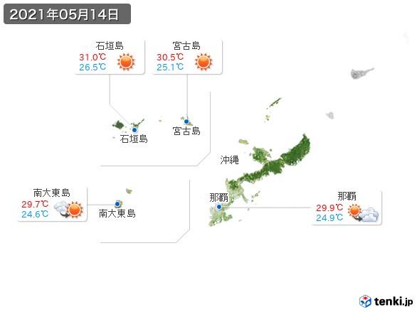 沖縄地方(2021年05月14日の天気
