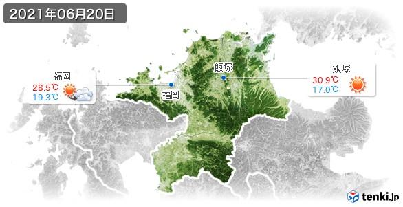 福岡県(2021年06月20日の天気