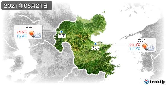 大分県(2021年06月21日の天気