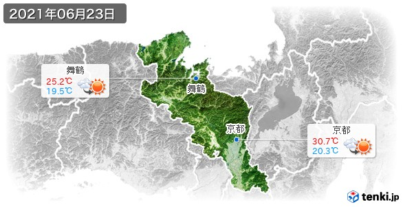 京都府(2021年06月23日の天気