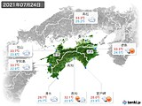 実況天気(2021年07月24日)