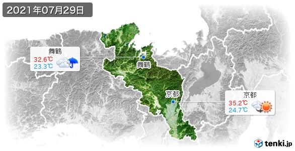 京都府(2021年07月29日の天気