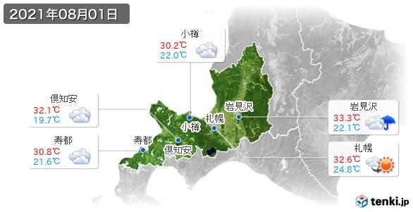 道央(2021年08月01日の天気