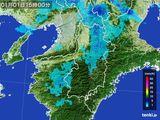 2015年01月01日の奈良県の雨雲レーダー