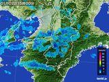 2015年01月02日の奈良県の雨雲レーダー