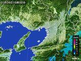 2015年01月06日の大阪府の雨雲レーダー