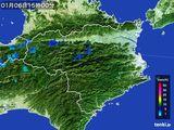 2015年01月06日の徳島県の雨雲の動き