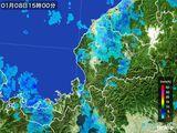 2015年01月08日の福井県の雨雲の動き