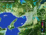 2015年01月08日の大阪府の雨雲レーダー
