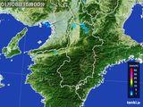 2015年01月08日の奈良県の雨雲レーダー
