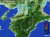 2015年01月09日の奈良県の雨雲レーダー