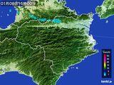 2015年01月09日の徳島県の雨雲の動き