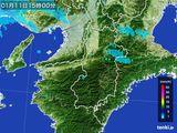 2015年01月11日の奈良県の雨雲レーダー