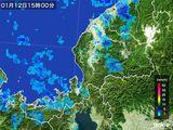 2015年01月12日の福井県の雨雲の動き
