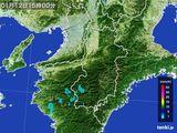 2015年01月12日の奈良県の雨雲レーダー