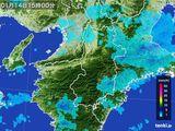 2015年01月14日の奈良県の雨雲レーダー