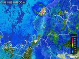 2015年01月15日の福井県の雨雲の動き
