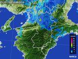 2015年01月15日の奈良県の雨雲レーダー