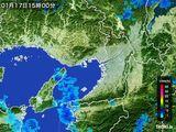 2015年01月17日の大阪府の雨雲レーダー