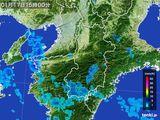 2015年01月17日の奈良県の雨雲レーダー