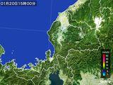 2015年01月20日の福井県の雨雲の動き