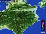 2015年01月20日の徳島県の雨雲の動き