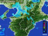 2015年01月21日の奈良県の雨雲レーダー