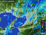雨雲レーダー(2015年01月22日)