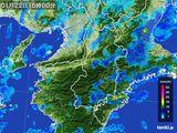 2015年01月22日の奈良県の雨雲レーダー
