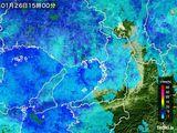 2015年01月26日の大阪府の雨雲レーダー