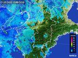 2015年01月26日の奈良県の雨雲レーダー