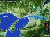 2015年01月27日の大阪府の雨雲レーダー