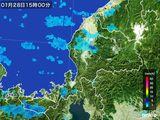 2015年01月28日の福井県の雨雲の動き