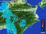 2015年01月29日の徳島県の雨雲の動き