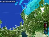 2015年01月30日の福井県の雨雲の動き