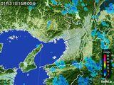 2015年01月31日の大阪府の雨雲レーダー