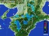 2015年01月31日の奈良県の雨雲レーダー