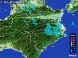 2015年01月31日の徳島県の雨雲の動き