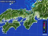 2015年02月01日の近畿地方の雨雲レーダー