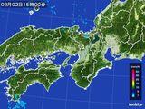 2015年02月02日の近畿地方の雨雲レーダー