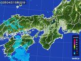 2015年02月04日の近畿地方の雨雲レーダー