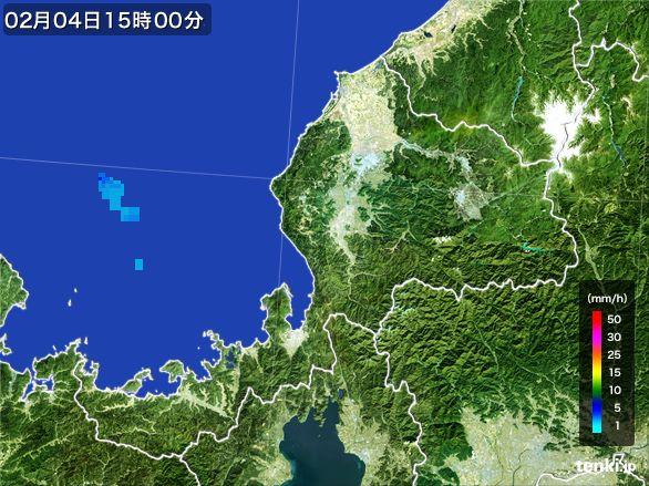 福井県の雨雲レーダー(2015年02月04日)