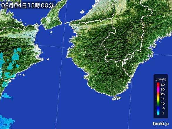 和歌山県の雨雲レーダー(2015年02月04日)