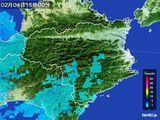 2015年02月04日の徳島県の雨雲の動き